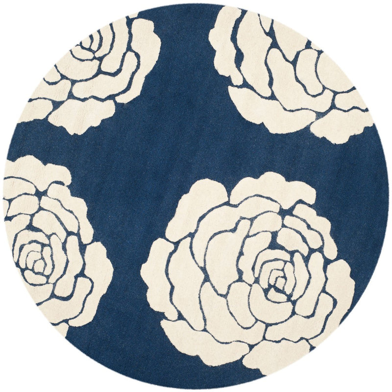 Safavieh Rugs Cambridge CAM782M Navy | Ivory