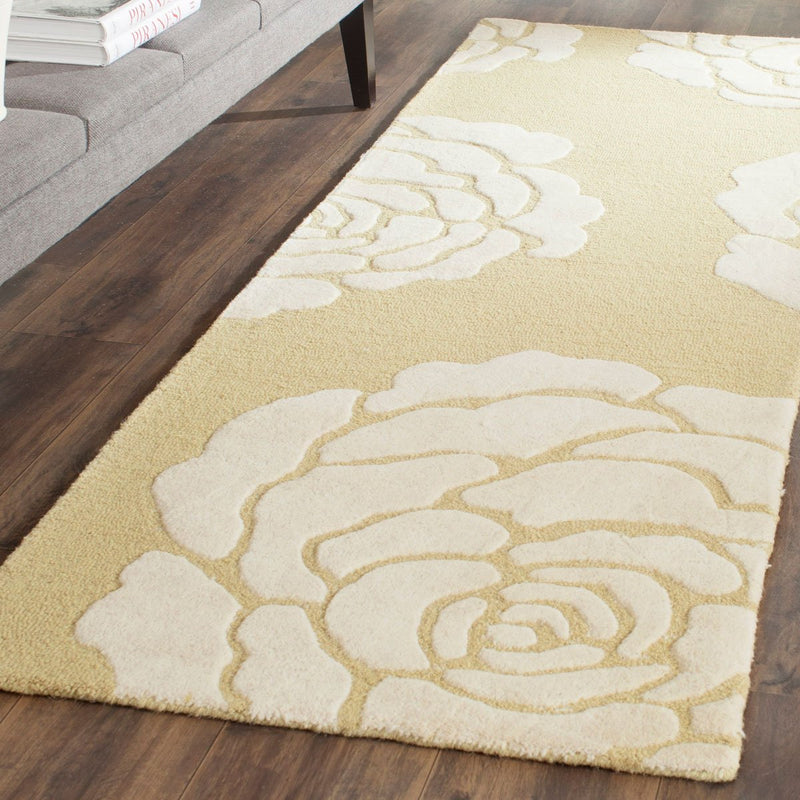 Safavieh Rugs Cambridge CAM782Q Light Gold | Ivory