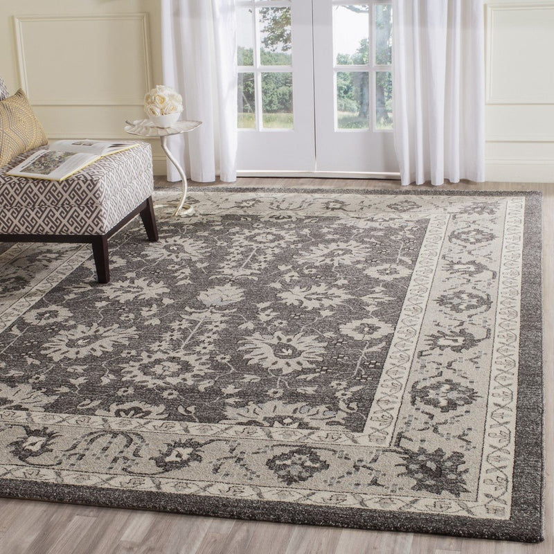 Safavieh Rugs Carmel CAR277D Dark Grey | Beige