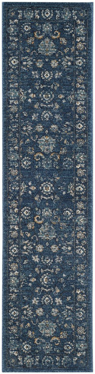 Safavieh Rugs Carmel CAR279G Navy | Beige