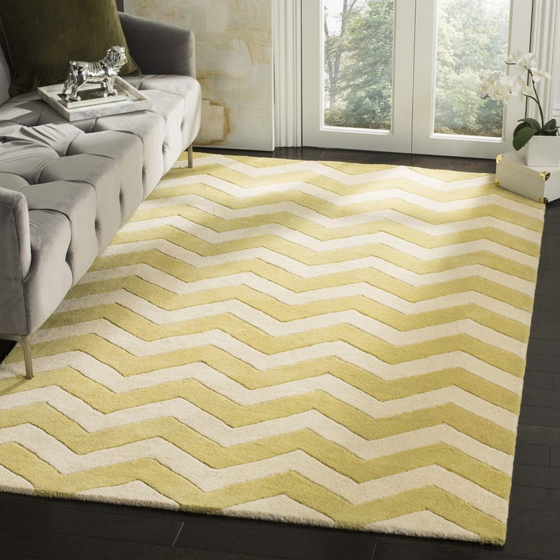 Safavieh Rugs Chatham CHT715L Light Gold | Ivory