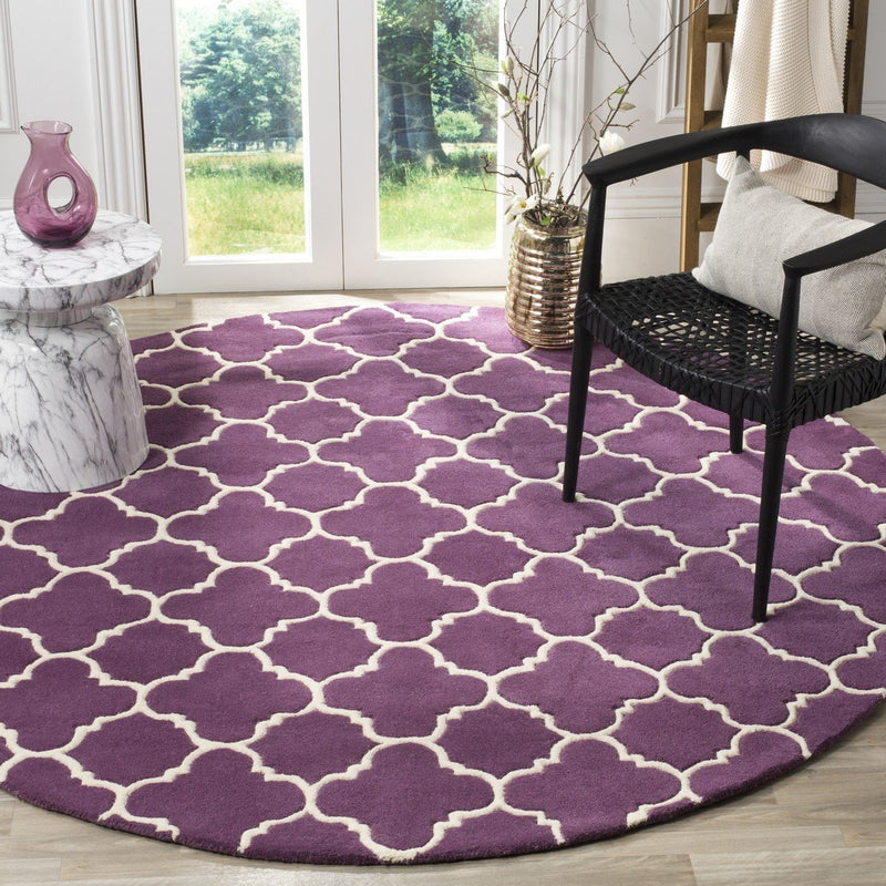 Safavieh Rugs Chatham CHT717F Purple | Ivory