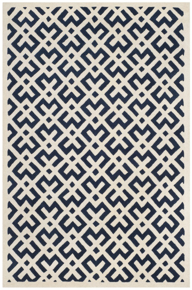 Safavieh Rugs Chatham CHT719C Dark Blue | Ivory