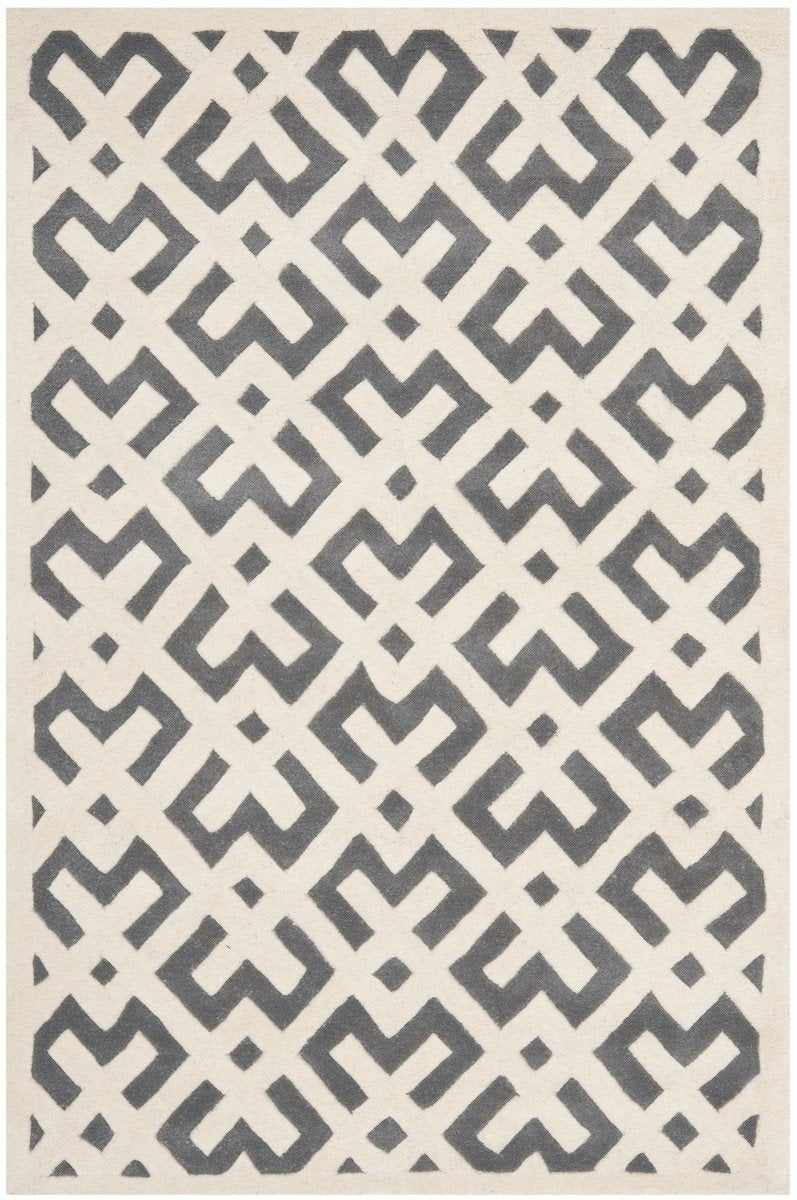Safavieh Rugs Chatham CHT719D Dark Grey | Ivory