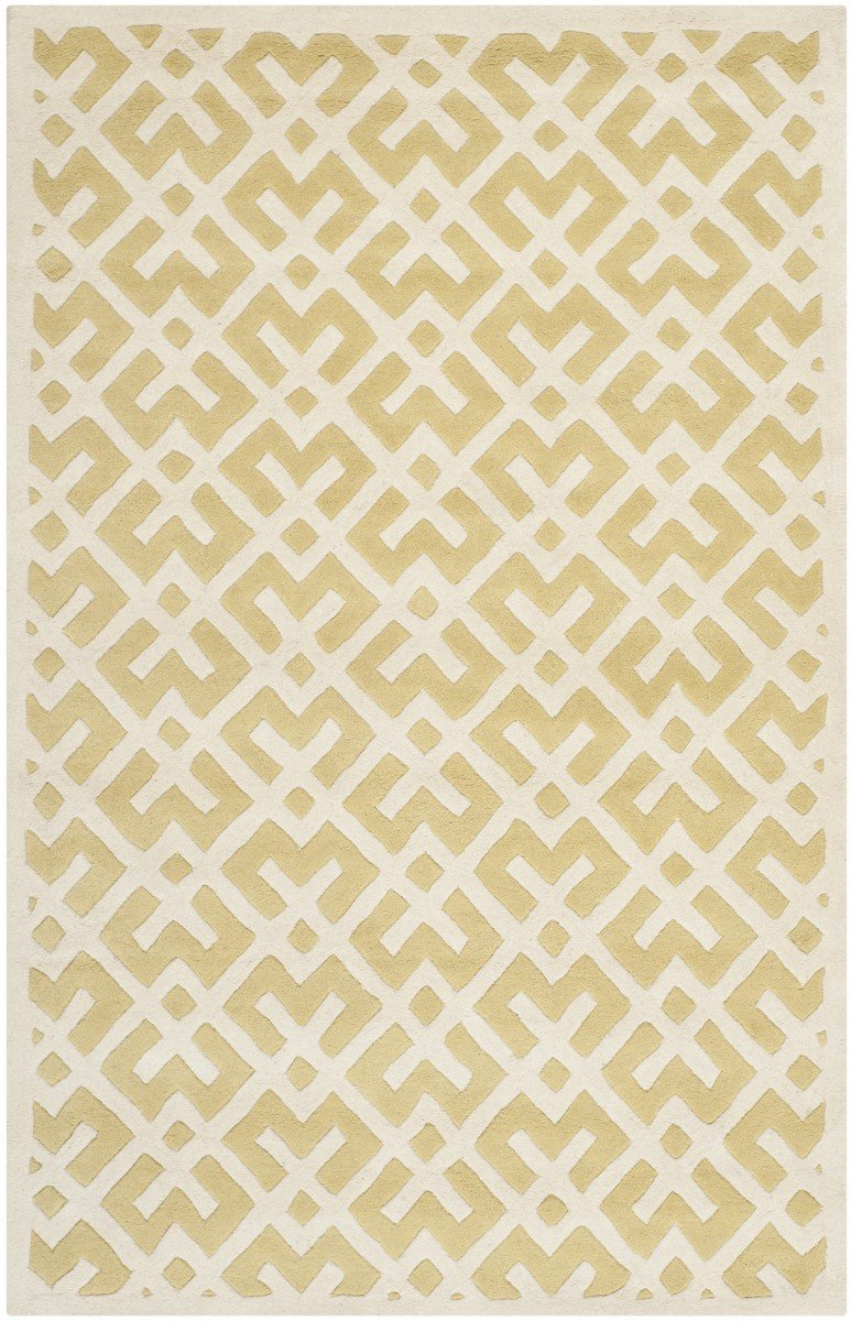 Safavieh Rugs Chatham CHT719L Light Gold | Ivory