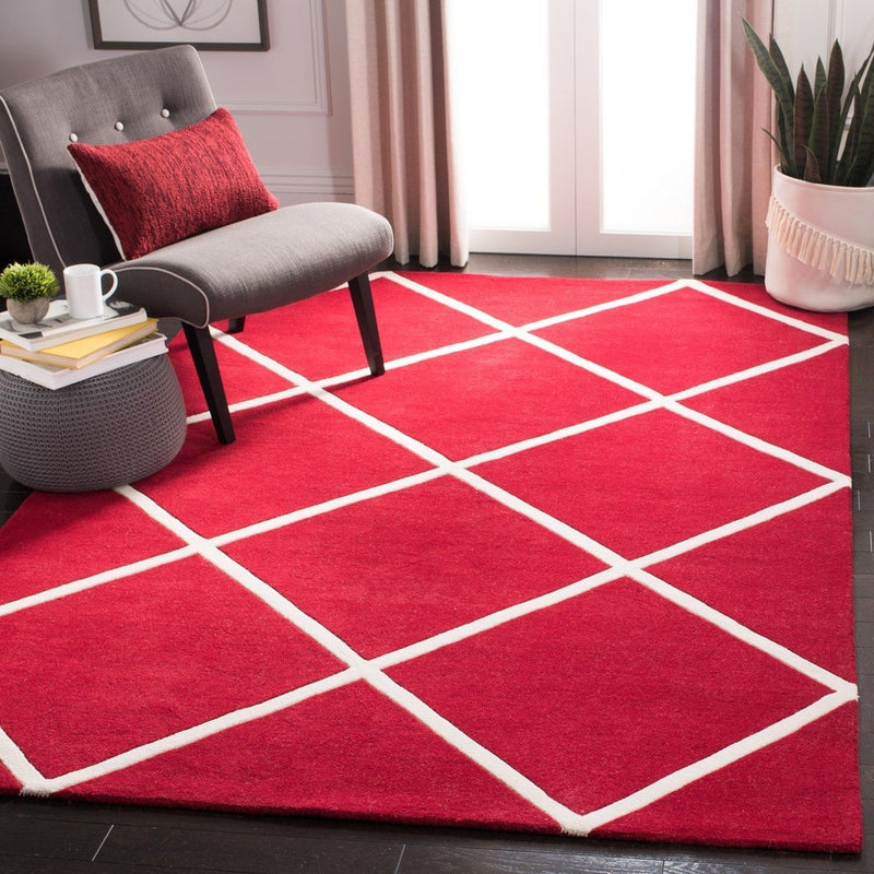 Safavieh Rugs Chatham CHT720G Red | Ivory