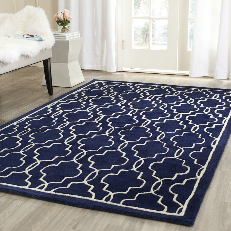 Safavieh Rugs Chatham CHT723C Dark Blue | Ivory