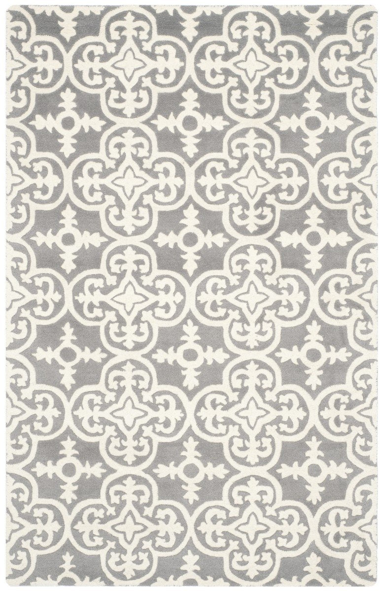 Safavieh Rugs Chatham CHT729D Dark Grey | Ivory
