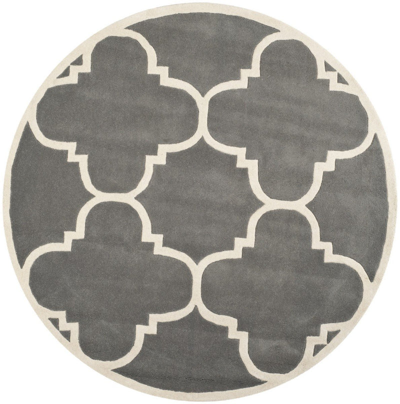Safavieh Rugs Chatham CHT730D Dark Grey | Ivory