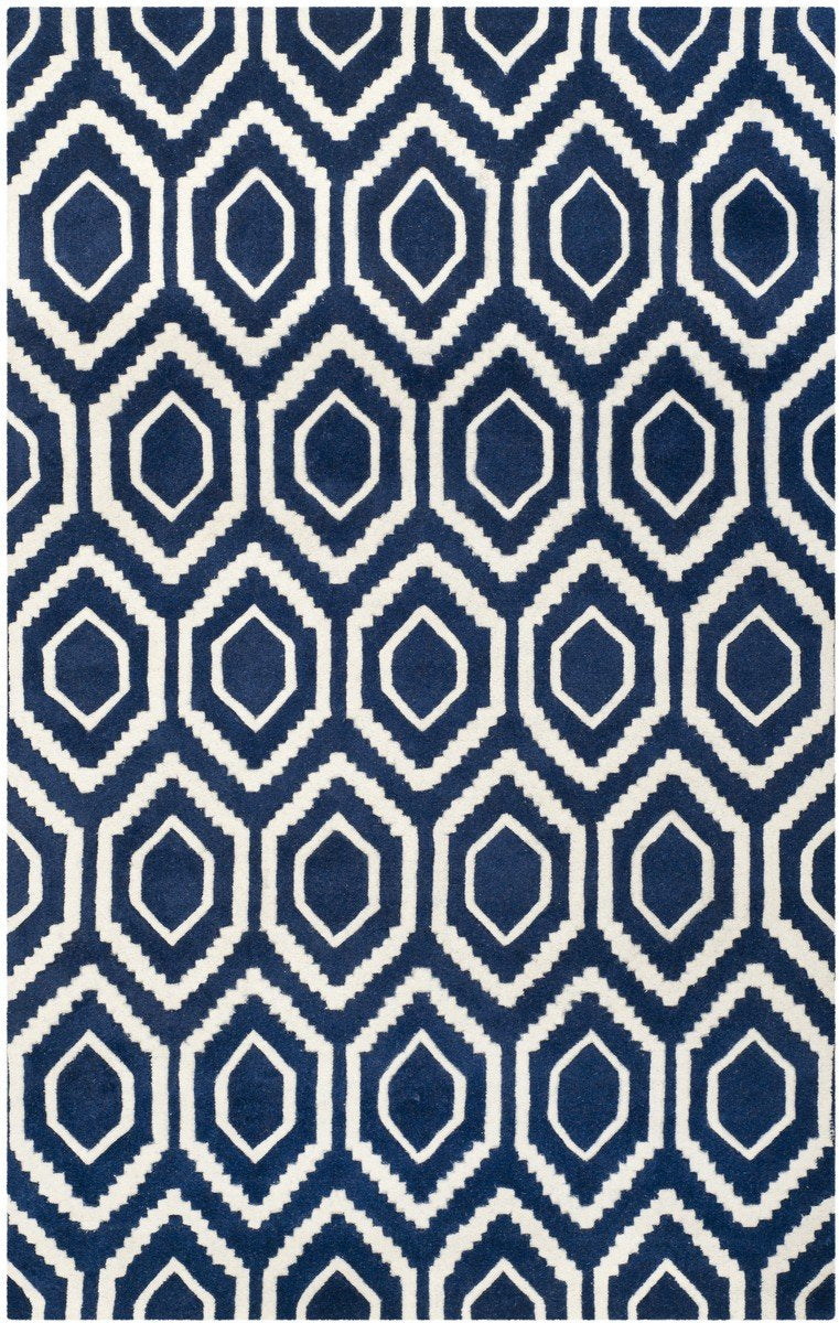 Safavieh Rugs Chatham CHT731C Dark Blue | Ivory