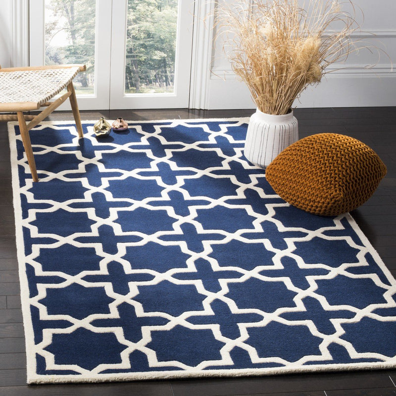 Safavieh Rugs Chatham CHT733C Dark Blue | Ivory