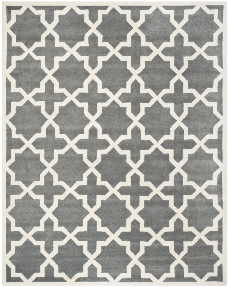 Safavieh Rugs Chatham CHT732D Dark Grey | Ivory