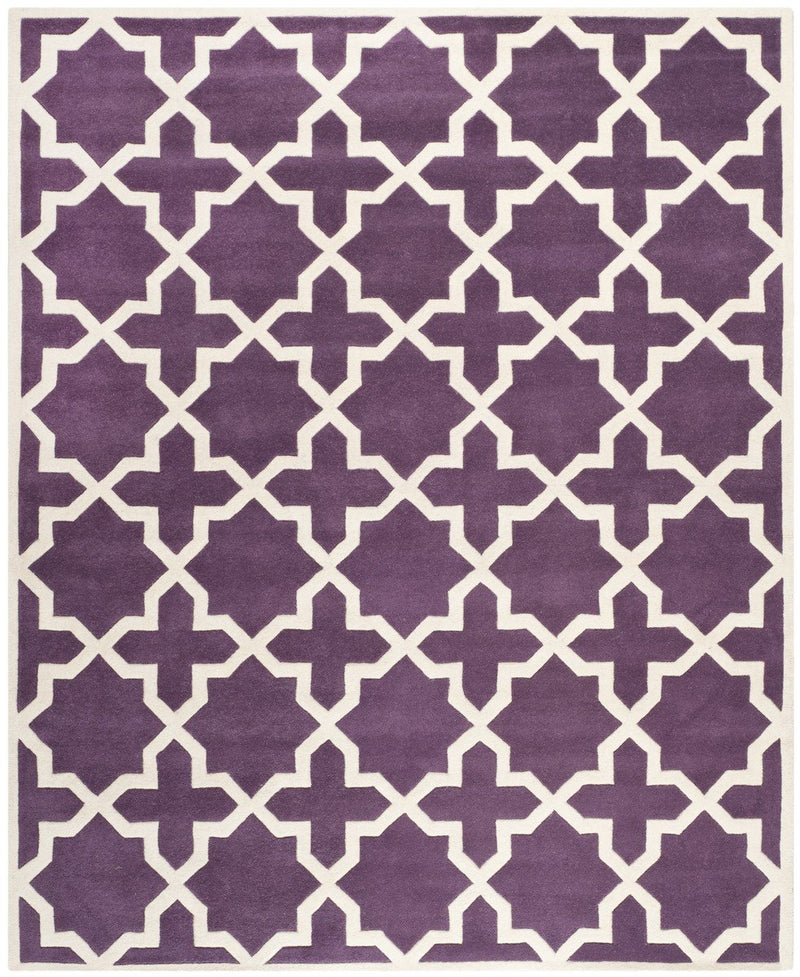 Safavieh Rugs Chatham CHT732F Purple | Ivory