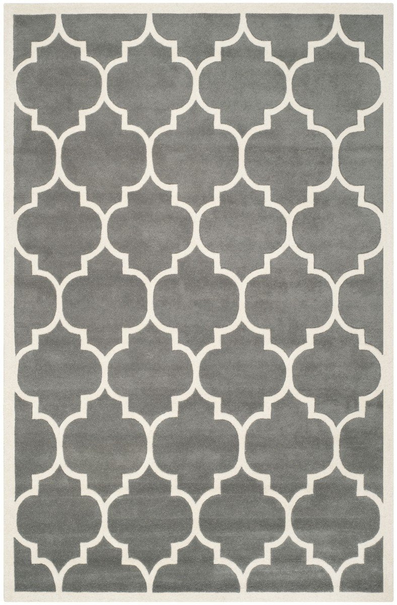 Safavieh Rugs Chatham CHT733D Dark Grey | Ivory