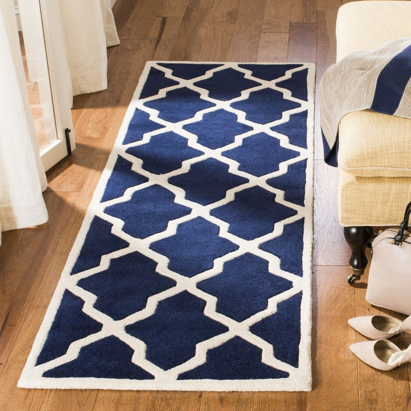 Safavieh Rugs Chatham CHT735C Dark Blue | Ivory