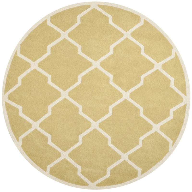 Safavieh Rugs Chatham CHT735L Light Gold | Ivory