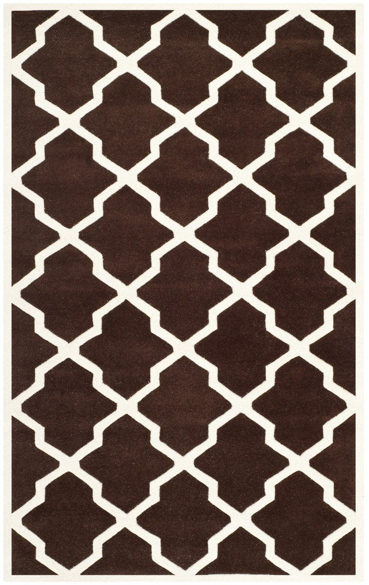 Safavieh Rugs Chatham CHT735R Dark Brown | Ivory