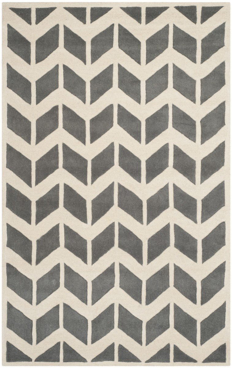 Safavieh Rugs Chatham CHT746D Dark Grey | Ivory