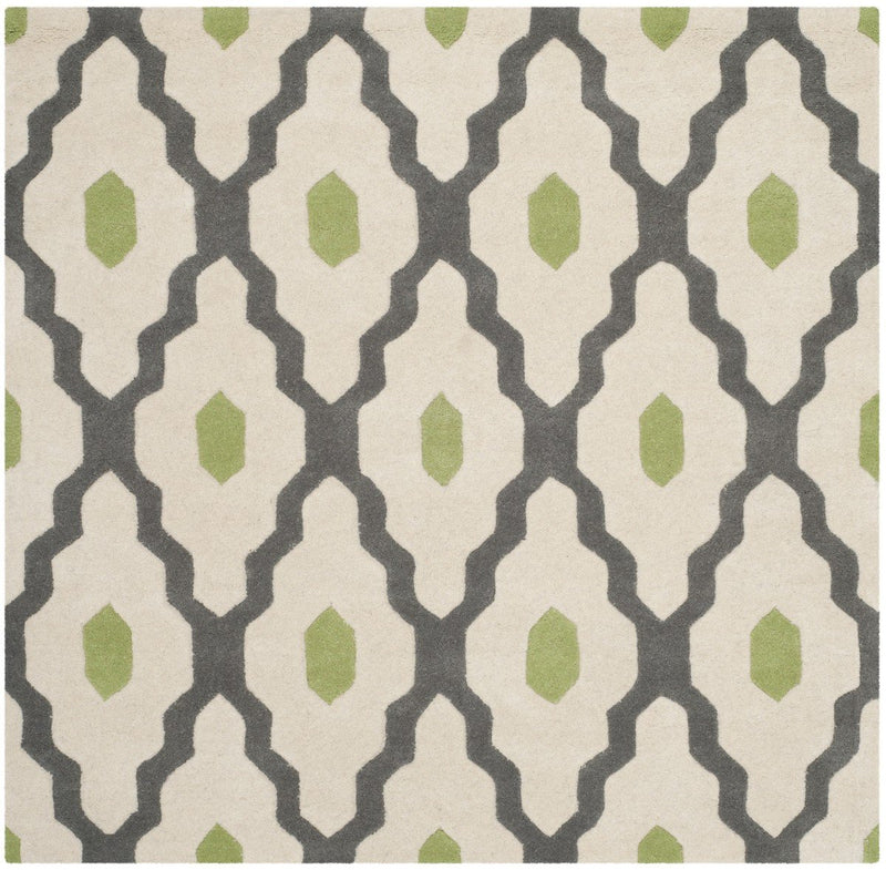 Safavieh Rugs Chatham CHT748K Dark Grey | Ivory