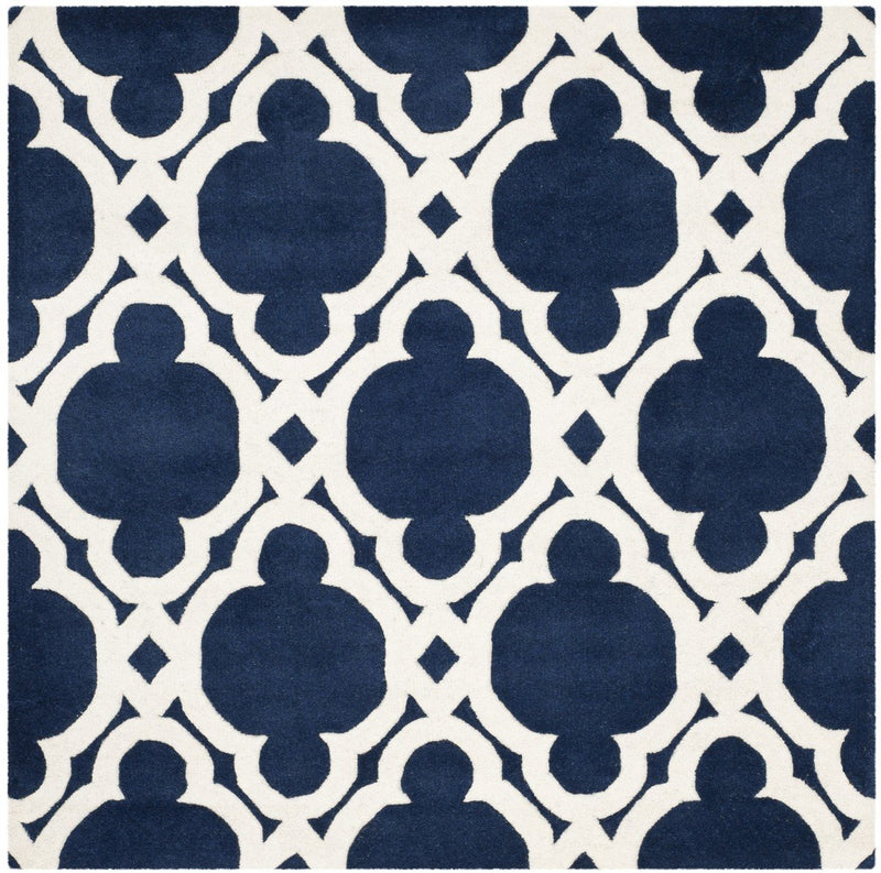 Safavieh Rugs Chatham CHT762C Dark Blue | Ivory