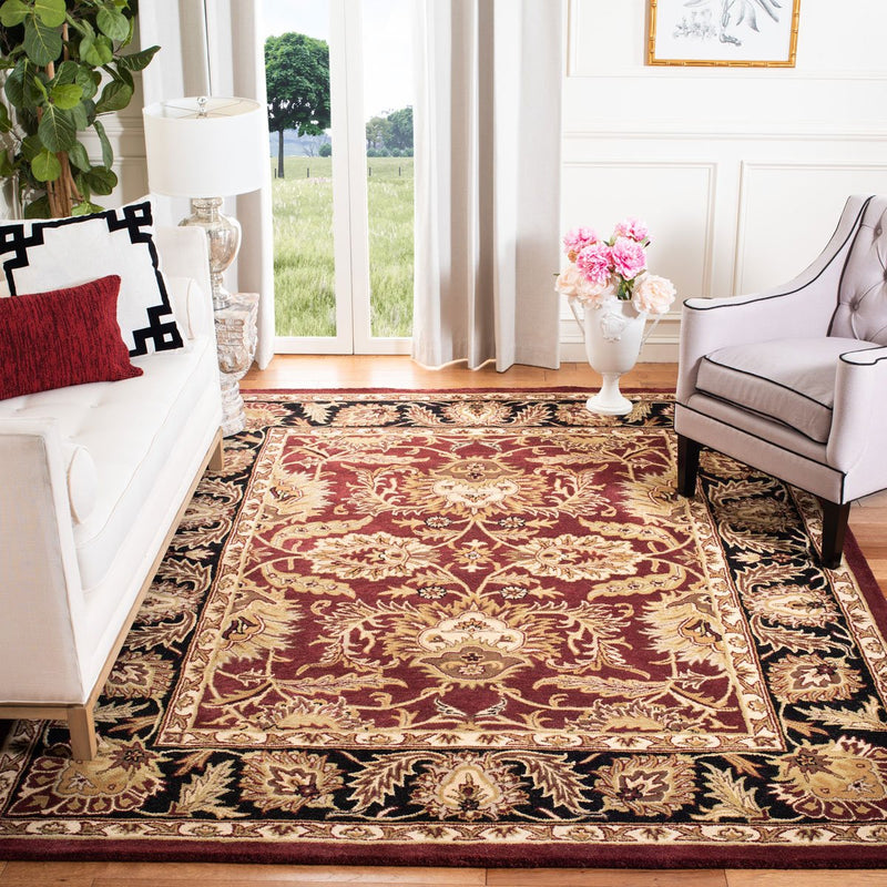 Safavieh Rugs Classic CL239B Burgundy | Black