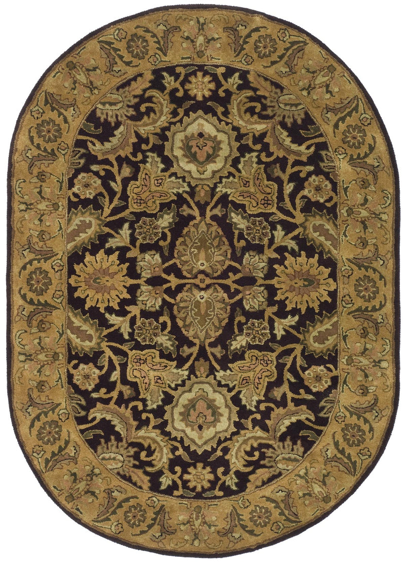 Safavieh Rugs Classic CL244B Eggplant | Gold