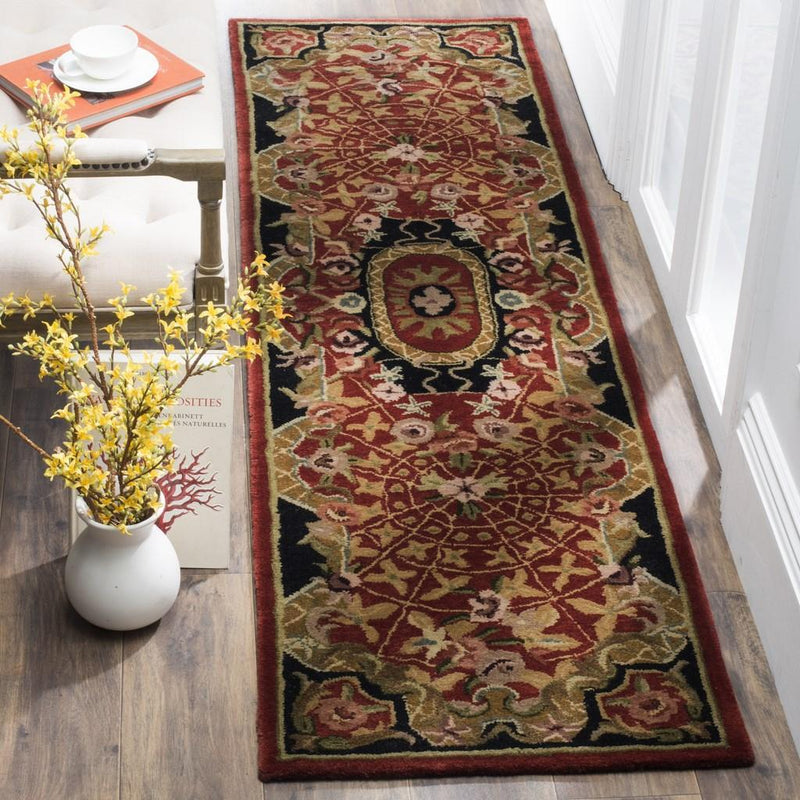 Safavieh Rugs Classic CL304B Burgundy | Black