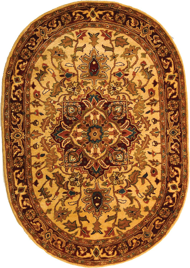 Safavieh Rugs Classic CL763A Light Gold | Red