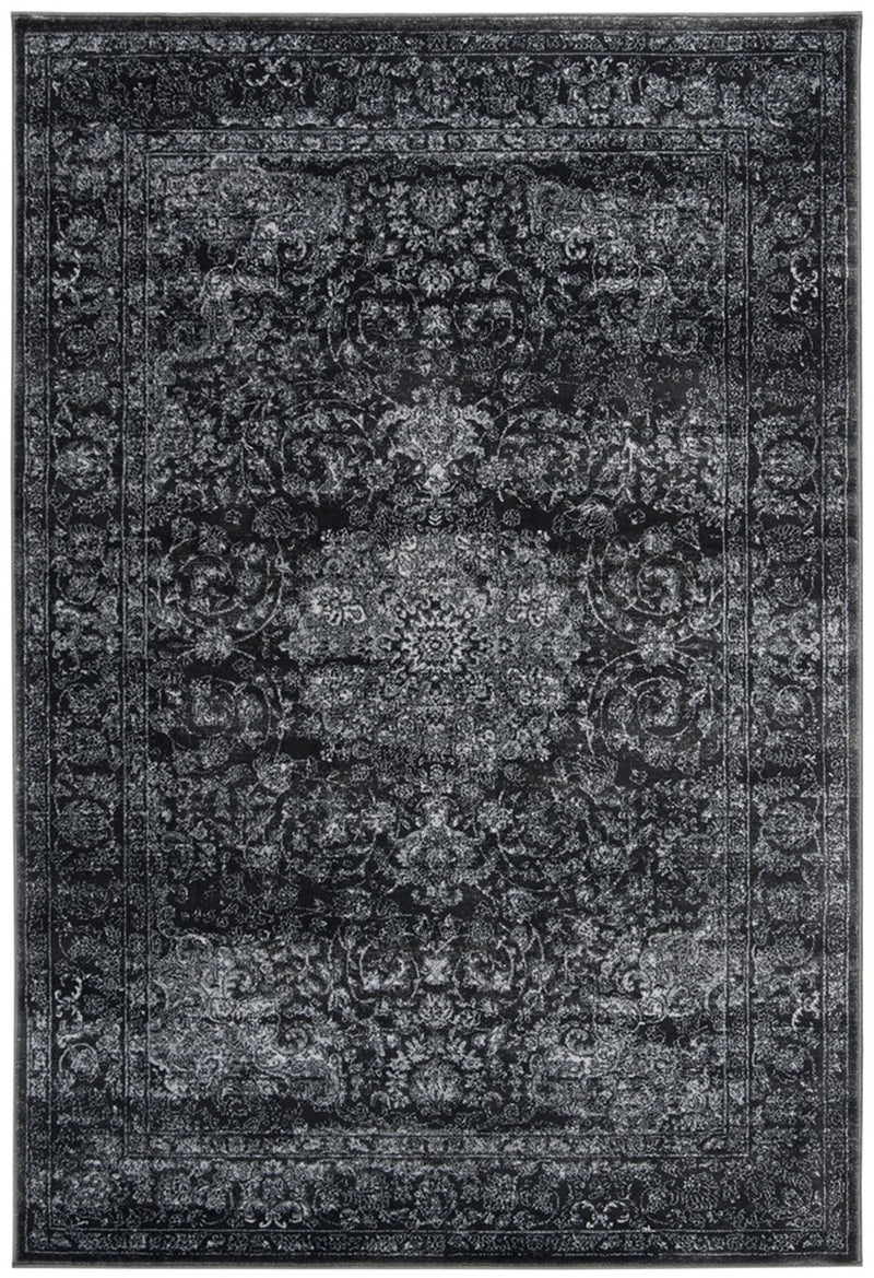 Safavieh Rugs Carnegie CNG631P Dark Grey | Cream