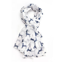 GIFT BOXED LABRADOR PRINT SCARF - COLOURS AVAILABLE