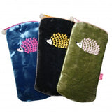 HEDGEHOG VELVET GLASSES CASE - COLOUR OPTIONS AVAILABLE