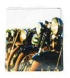 PRINTED LEATHER MOTORCYCLE WALLET