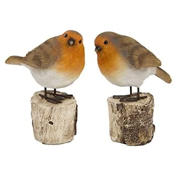PAIR OF WINTER ROBINS