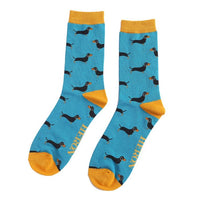 MENS DACHSHUND BAMBOO SOCKS 7-11 - COLOUR OPTIONS AVAILABLE