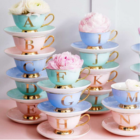 *SALE* Bone china teacup & saucer - Letters available
