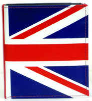 PRINTED LEATHER UNION JACK WALLET