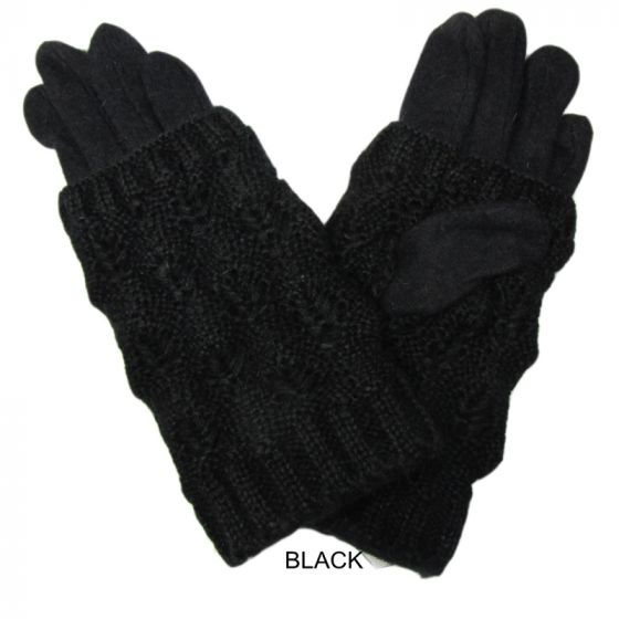 2 -1 WINTER GLOVE WITH REMOVABLE FINGERLESS SLEEVE - COLOUR OPTIONS AVAILABLE