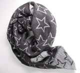 SUPER SOFT DOUBLE SIDED STAR SCARF - COLOUR OPTIONS AVAILABLE.