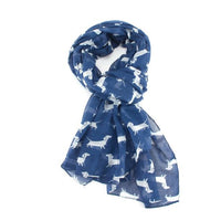 GIFT BOXED DACHSHUND SCARF - COLOURS AVAILABLE