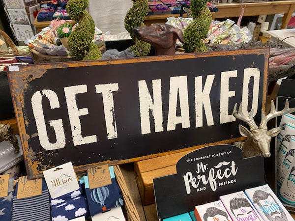 EXTRA LARGE GET NAKED SIGN