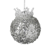 BEAUTIFUL, SPARKLY DECORATIVE GLASS BAUBLE