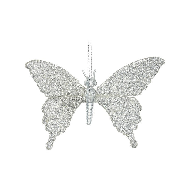 GLASS HANGING CHRISTMAS BUTTERFLY