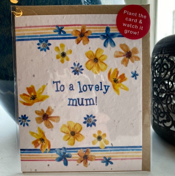 PLANTABLE WILDSEED MOTHERS-DAY CARD