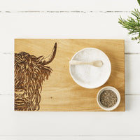 HAND CRAFTED WOODEN SCOTTISH OAK SERVING BOARD - DESIGNS AVAILABLE
