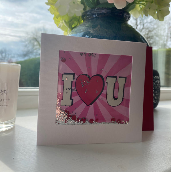 SEQUIN VALENTINES CARD