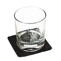 BOXED WHISKY TUMBLER WITH SLATE COASTER - DESIGN OPTIONS AVAILABLE