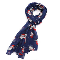 GIFT BOXED VINTAGE SANTA PRINT SCARF- COLOURS AVAILABLE