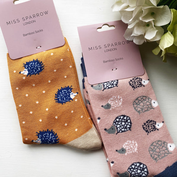SUPER SOFT HEDGEHOG BAMBOO SOCKS 4-7