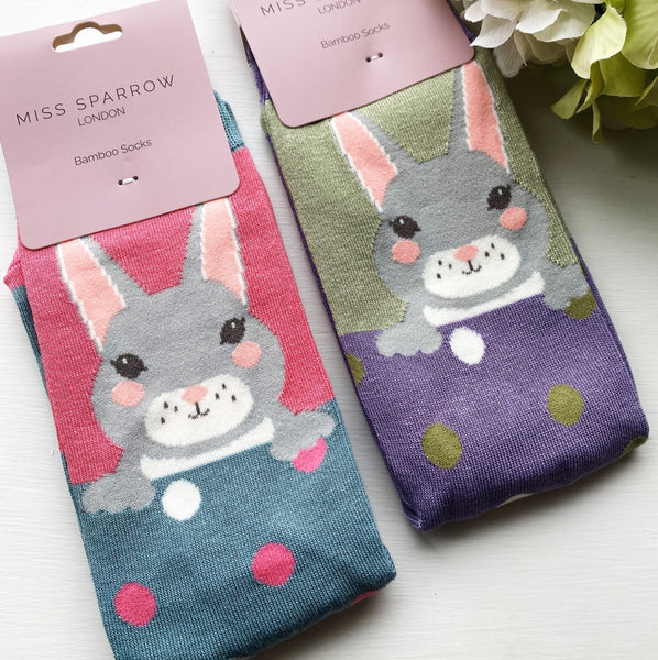 SUPER SOFT BUNNY BAMBOO SOCKS 4-7
