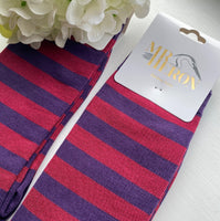 MENS STRIPY SOCKS 7-11